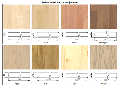 Indoor wood step inserts for FlexStep